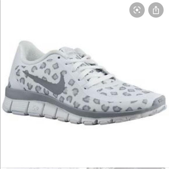 Nike Shoes - RARE Nike Free 5.0 Snow Leopard w/Custom Grey Lace